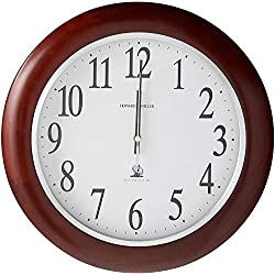 Howard Miller Murrow Wall Clock 625-259 – Modern & Round with Atomic, Radio Control Movement