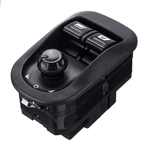 YONGYAO Interruptor del Elevalunas Eléctrico Botón de Espejo Eléctrico Principal para Peugeot 206306 2002-2016