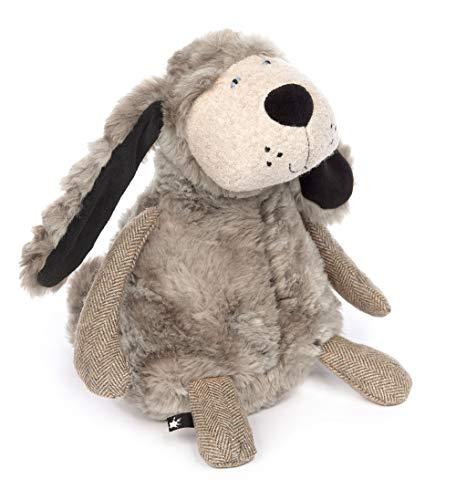 Sigikid Hund - Plump Plumper, BeastsTown, Kuscheltier für Erwachsene und Kinder, grau, 39311