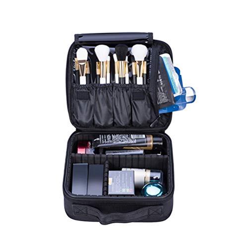 Sac à cosmétiques voyage amovible partition professionnelle portable trois couches grande capacité trousse de maquillage imperméable à l'eau pour les hommes/femmes,S