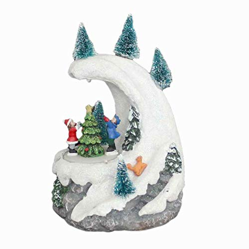 UXZDX CUJUX Christmas Ornaments Christmas Decor Gift Snow Mountain Rotating Figurines and Tree with Led Light Music