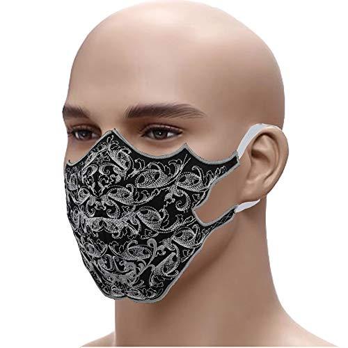 Designer Schutzmaske Edel gestickter MundschutzGesichtsmaske➤60° waschbar TRB