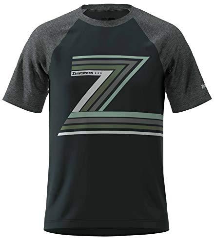 Zimtstern Herren The-Z Tee T-Shirt, Pirate Black/Gun Metal Melange, XL