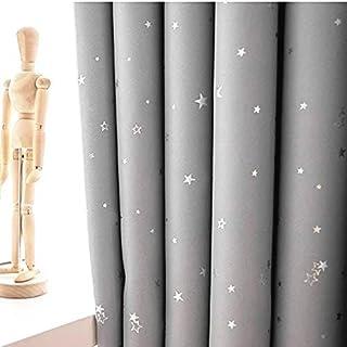 Exceptionnel Lot De 2 Rideaux Gris Etoiles, Rideaux Occultants Enfants Etoiles (gris,  140x260cm)