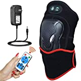 ELEKHEAL Knee Heating Pad with Vibration Massager, Auto Shut Off Far Infrared Heated Brace Wrap Support W/Remote Control for Knee Joint Tendon Muscle Injury Arthritis Pain Relief