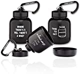 OnMyWhey - Protein Powder and Supplement Funnel Keychain, Portable to-Go Container for The Gym, Workouts, Fitness, and Travel - TSA Approved, Punny Variety 3-Pack