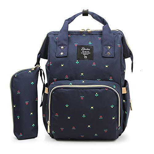 Baby Wickeltasche Wickelrucksack Groß mit Kinderwagenhaken, Multifunktionale Babytasche mit vielen Fächern für Spielzeug, Windeln, Trinkflaschen und andere Babysachen, Aprikose