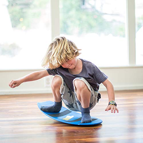 A Spooner Board is one of the more unique indoor exercise toys for kids