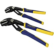 IRWIN VISE-GRIP GrooveLock Pliers Set, Straight Jaw, 2-Piece (1802532),Black