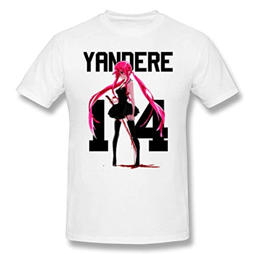 KTS88S Funny Yandere Shana Men's Short-Sleeved Standard T-Shirt Deep Heather,Camisetas y Tops(Medium)