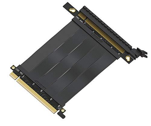 LINKUP {10 cm} PCIE 3.0 16x Riser Cable Super Abgeschirmt Twinaxial PCI Express Steigleitung Kabel Portverlängerungs-Platte 2020 Rev | Gerade Buchse – TT kompatibel