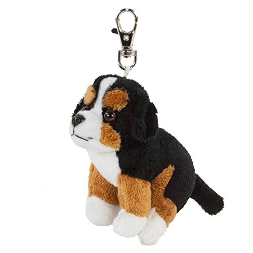 Teddys Rothenburg Schlüsselanhänger Berner Sennen Hund 9 cm schwarz/weiß/braun Plüschtier Plüschhund
