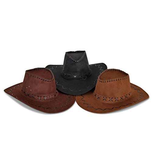 4 x Cowboyhut Cowboy Hut Westernhut Western sortiert