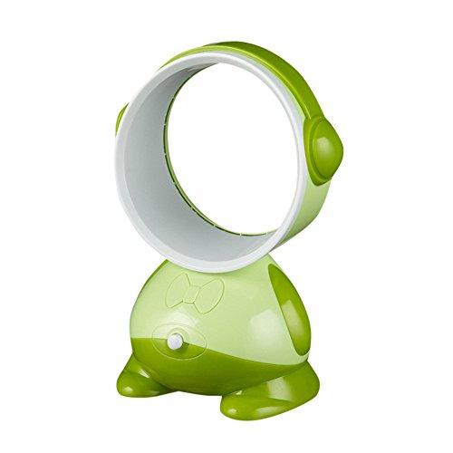 Lonshell - Ventilador USB de Escritorio sin aspas, Mini Ventilador de Aire Acondicionado de Flujo de Aire Fresco silencioso pequeño Ventilador de refrigeración Personal, Verde, 26 * 16 * 16cm