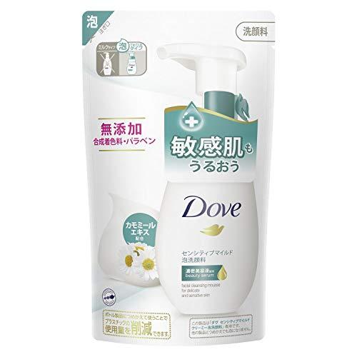 ダヴ センシティブマイルド クリーミー泡洗顔料 つめかえ用 敏感肌用 無添加 乾燥肌140mL