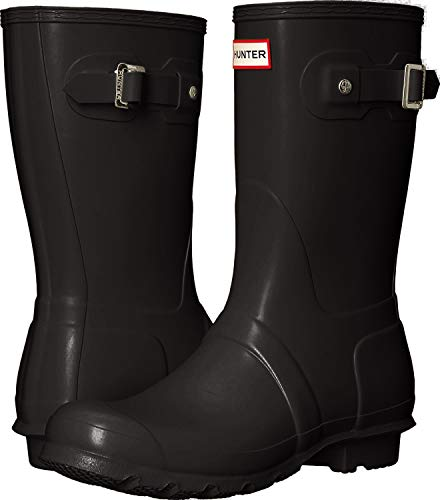 Hunter Womens Original Short Black Matte Rain Boot - 11 B(M) US