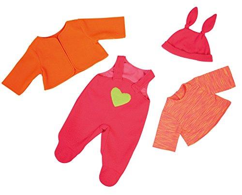 Bayer Design 83833AA - Kleidung für Puppen, Latzhose Shirt Jacke und Mütze, 38 cm