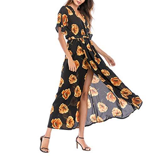 Generice Spring - Falda para mujer con cuello en V y cuello en V, Primavera-Verano, globo, Mujer, color Color de la foto-14, tamaño S