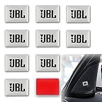 ARGYJAE 10個の車のスピーカーのオーディオ飾る3DアルミニウムJBLバッジエンブレムステッカー206 207 306 307 508 106 107 107 108 2008 3008 5008 (Size : For JBL)