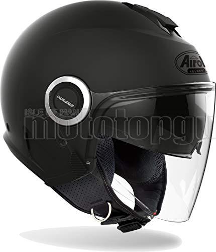 Airoh HE11 Motorradhelm Urban Jet schwarz matt Helios Farbe Größe MS