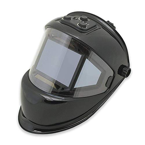 TGR Panoramic 180 View Solar Powered Auto Darkening Welding Helmet - True Color (MATTE CARBON FIBER)