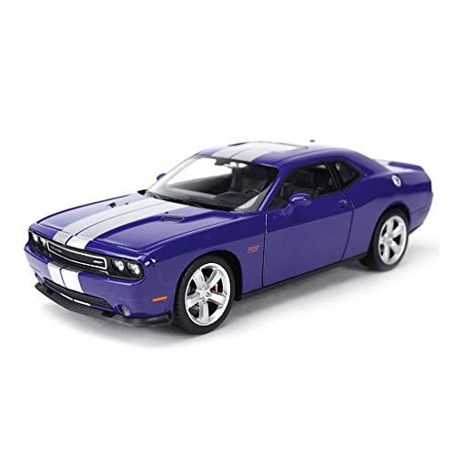 CHGDFQ Modelo de Coche Coche 1:24 Dodge 2012 Challenger de aleación de fundición a presión Adornos de Juguete colección de Autos Deportivos joyería 19x8.4x5.5 CM
