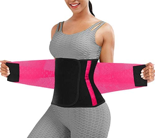 Waist Trainer for Women Waist Trainer for Weight Loss Waist Trimmer Hot Pink Small product image