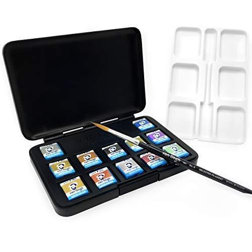 Royal Talens - Van Gogh - Metálico y Interferencia Colores - Acuarela Bolsillo Box Of 12: Amazon.es: Hogar