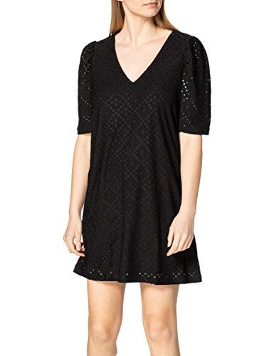 Vero Moda VMESSENCE 2/4 Embrodiery Dress SB5 GA Vestido Informal, Negro, XL Regular para Mujer