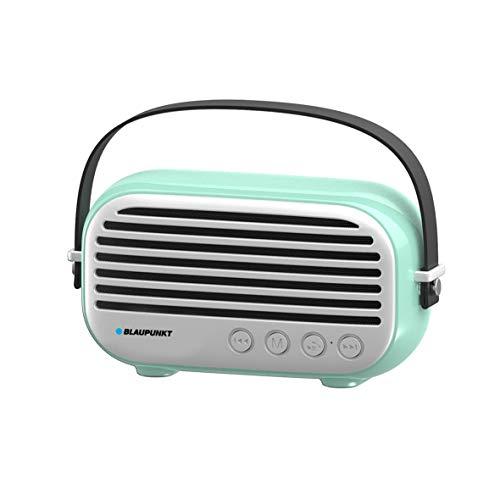 Blaupunkt - MP3350-182 - Enceinte Vintage sans Fil - Compatible Bluetooth - 5W x 3 - Bleu
