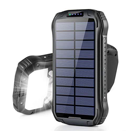 26800mAh モバイルバッテリー ソーラー Soxono 大容量 ソーラーチャージャー 15W急…