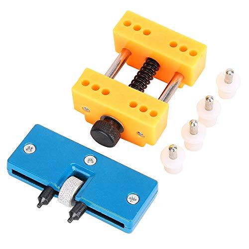 MMOBIEL Uhren Gehäuse Rückseite Öffner verstellbar und Halterung für Uhr Reparaturen wie Batteriewechsel