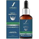 Spruce Shave Club Advanced Beard Growth Oil | With Avocado, Argan & 8