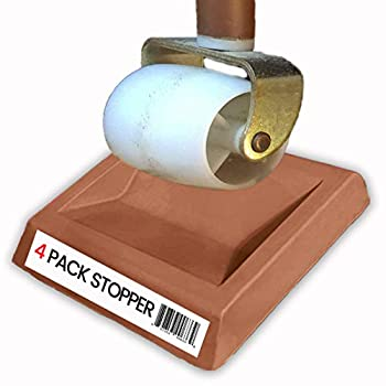 Bed Stopper/Furniture Stopper  4 Pieces  by iPrimio Universal Design fits Most Wheels Solid Rubber Won t Scratch/Leave Marks on Floors Patent Pending.