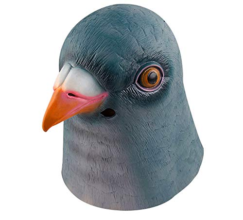 Gmasking Natural Latex Green Pigeon Halloween Party Costume Mask