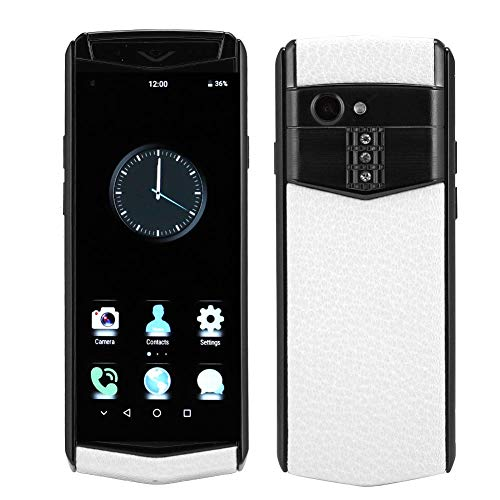 Teléfono móvil, 1GB + 16GB Red Completa 4G Mini Smart Bluetooth Teléfono móvil Tarjeta Dual Teléfono Inteligente de Doble Modo de Espera con Cuero de PU Lujo, 100-240V(EU)