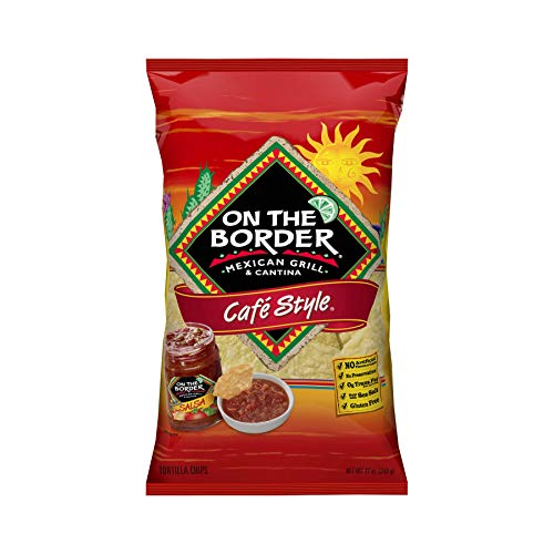 On The Border Cafe Style Tortilla Chips, 12 Oz. - 3 Pk, 3.2 Lb (Pack Of 1)