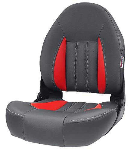 Tempress ProBax Orthopedic Limited Edition Boat Seat (Charcoal/Gray/Red)