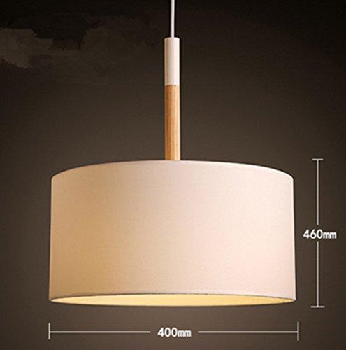 Nouvelle personnalité nordique créatif lustre salon étude chambre tissu ombre ronde simple moderne lustre, sans ampoules , white