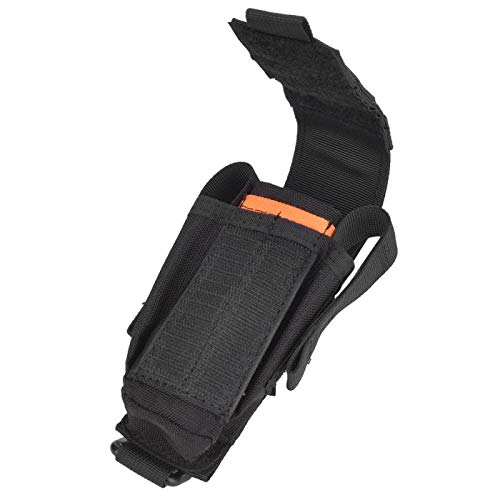 DAUERHAFT Portable Comfortable Sturdy Durable Multi Tool Organizer Nylon Multifunction Tool Storage Bag Stable for Hiking,Mountaineering,Camping(black)