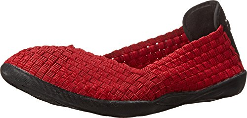 Bernie Mev Women's Braided Catwalk Red Flats - 37 M EU