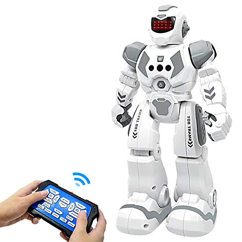 BIBIELF Robot Toys for Kids, RC Programmable Robot Toys for Boy with Infrared Gesture Sensing,...