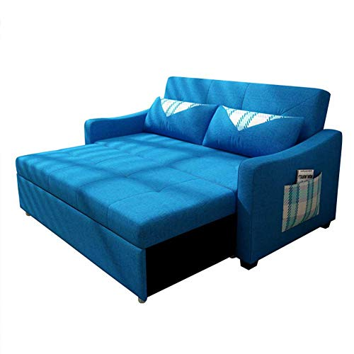 Reversible Sleeper Sectional Sofa Couch with Pull-Out Sleeper, Modern Soft Loveseat Bed for Living Room or Bedroom, Corner Sofa Bed with Ottoman/Storage,1.5m
