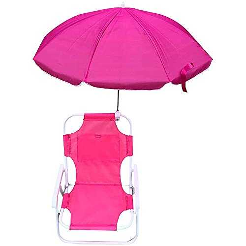 NAINAIWANG Sedia Sdraio Spiaggia reclinabile Pieghevole Bambino con ombrellone Rimovibile Parasole per Bambino Campeggio Esterno Giardino Viaggi in roulotte Spiaggia di Pesca e Barbecue