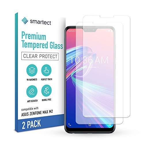 smartect Schutzglas kompatibel mit Asus Zenfone Max M2 [2 Stück] - Tempered Glass mit 9H Festigkeit - Blasenfreie Schutzfolie - Anti-Kratzer Bildschirmschutzfolie