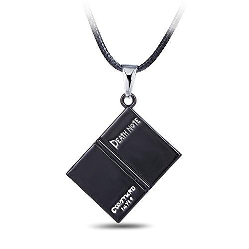 Colgante Collar Popular Anime Death Note Grim Reaper Cuaderno Negro Colgante Collar De Cordón De Cuero