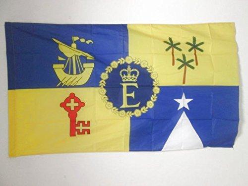 AZ FLAG Flagge KÖNIGLICHE STANDARTE VON Mauritius 1978-1991 150x90cm - Mauritius Fahne 90 x 150 cm Scheide für Mast - flaggen Top Qualität