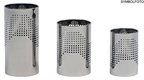 Graepel g-line pro design quadrotto italienne corbeille à papiers en acier noir laqué taille graepel : 25 x h 38/l 18 cm