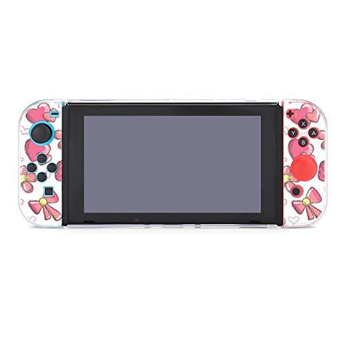 Custodia per Nintendo Switch Romantico Cuore Fiocco Cinque Pezzi Set Custodia Protettiva Compatibile con Nintendo Switch Game Console