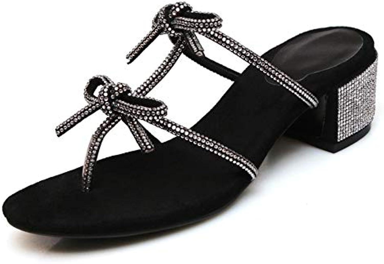 MENGLTX High Heels Sandalen Sandalen Für Frauen Strass Bling Bling Square Heels Sommer Hohe Schuhe Frau Mode Hochzeit Schuhe